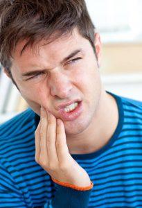 Aplink ertmę esanti sritis gali būti jautri, o jūsų veidas gali patinti.